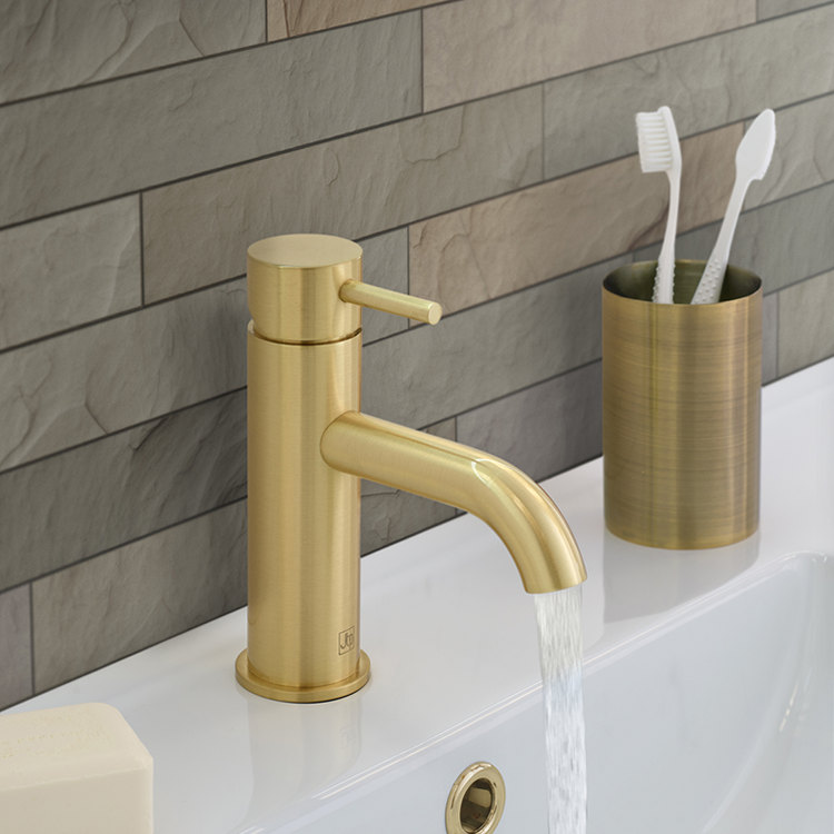 Lifestyle Photo of JTP Vos Brushed Brass Single Lever Basin Mixer