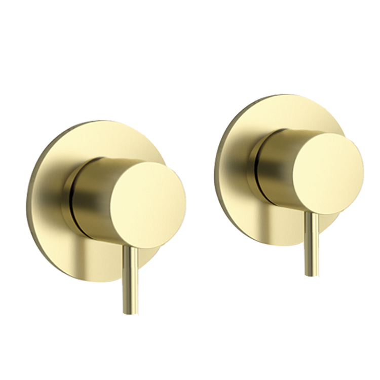 Photo of JTP Vos Brushed Brass Wall Mounted Valves Cutout