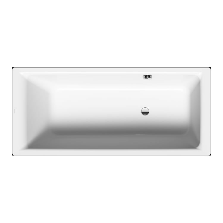 Kaldewei Puro 1700mm x 800mm Single Ended Bath with Side Overflow - Image 1 - Left Hand