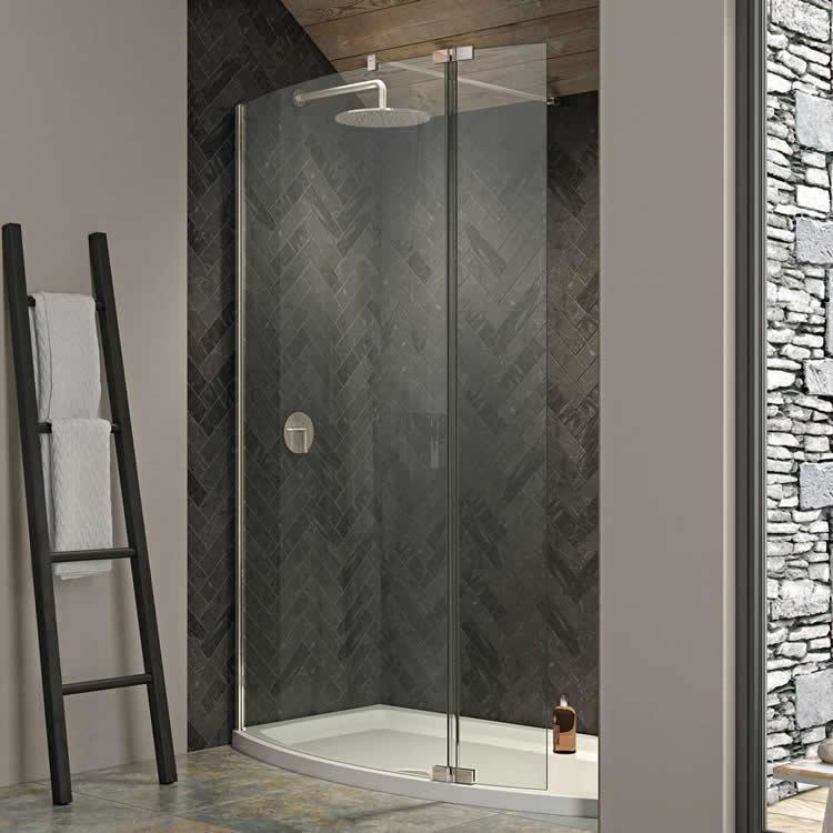 Kudos Ultimate 2 1500 x 700mm Curved Walk In Shower & Tray Image 1