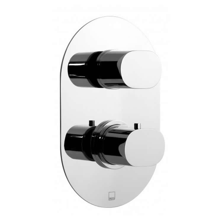 Vado Life Single Outlet Two Handle Thermostatic Shower Valve Image 1