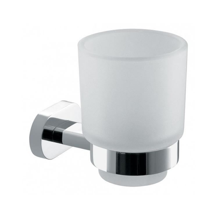 Vado Life Frosted Glass Tumbler & Holder Image 1