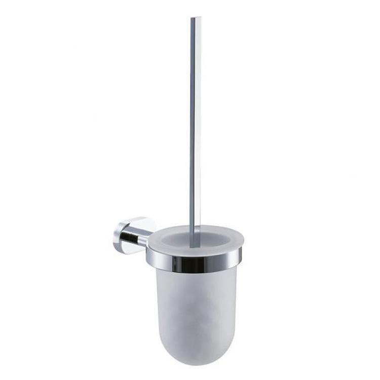 Vado Life Toilet Brush & Frosted Glass Holder Image 1