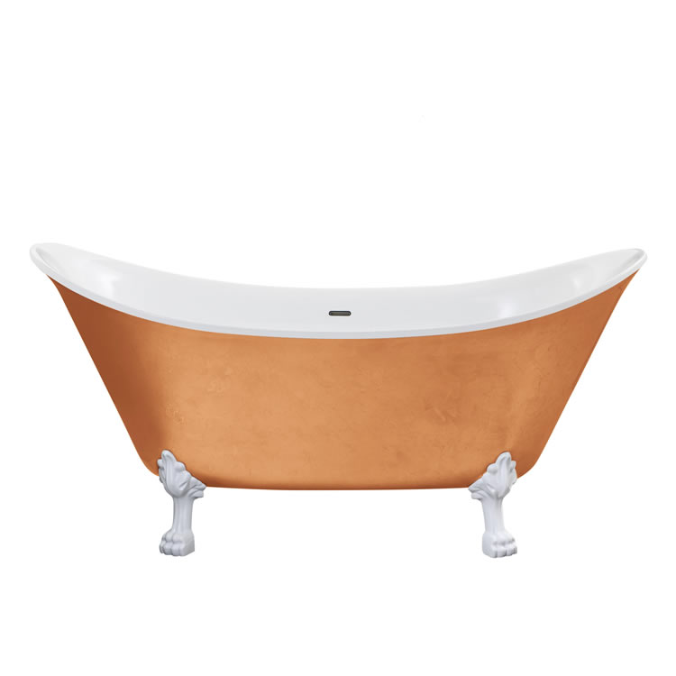 Heritage Lyddington 1730mm Copper Effect Freestanding Acrylic Double Ended Bath