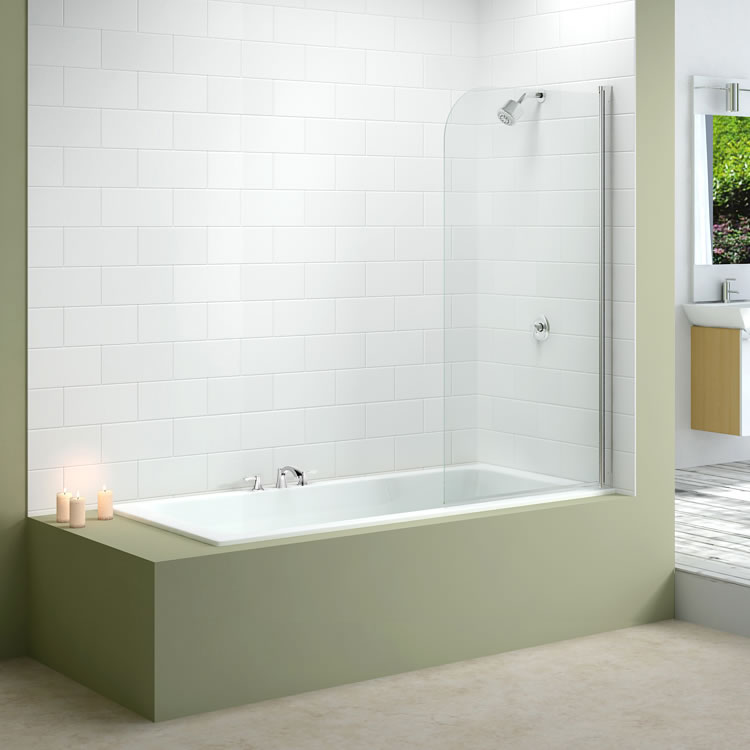 Merlyn MB1 Single Curved Bath Screen Lifestyle Image 1