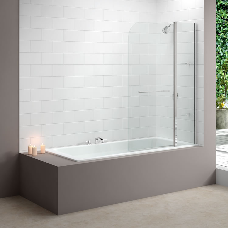 Merlyn MB3 Two Panel Curved Bath Screen Lifestyle Image