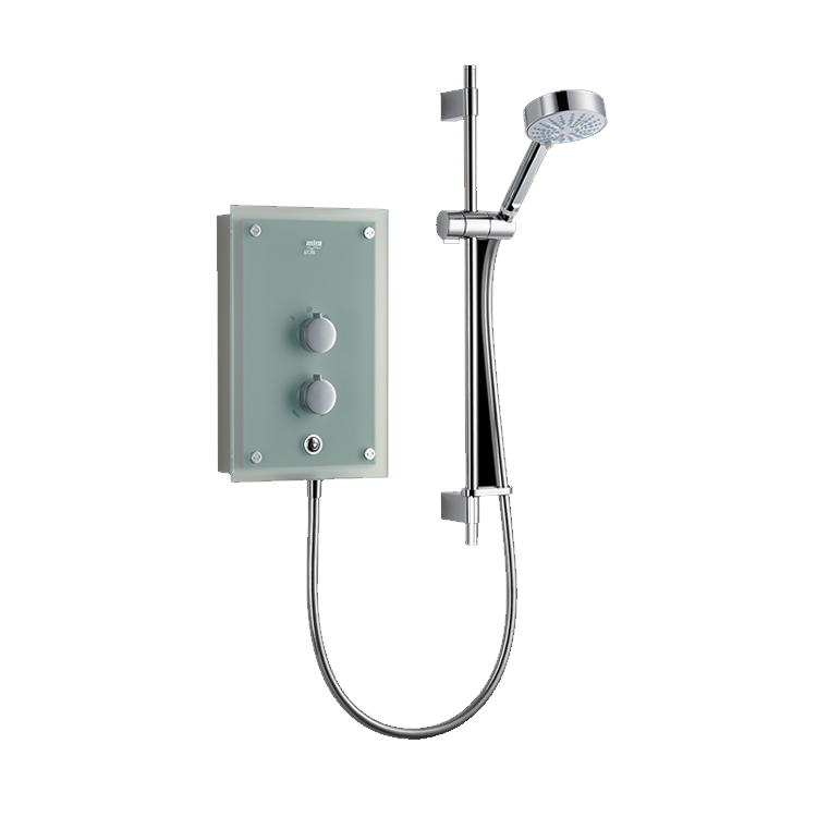 Poto of Mira Azora Frosted Glass 9.8kW Thermostatic Electric Shower Cutout