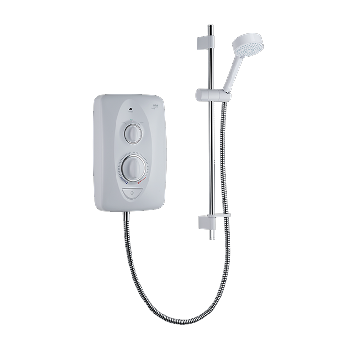 Photo of Mira Jump Chrome and White 7.5kW Thermostatic Electric Shower Cutout