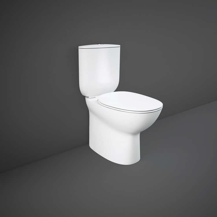Rak Morning Flush to Wall WC with Soft Close Seat - Image 1