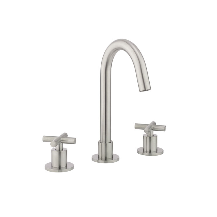 Photo of Crosswater MPRO Brushed Stainless Steel Crosshead Basin 3TH Set Cutout