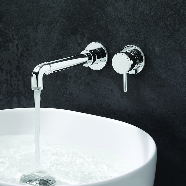 Photo of Crosswater MPRO Industrial Chrome 2 Tap Hole Basin Tap Lifestyle