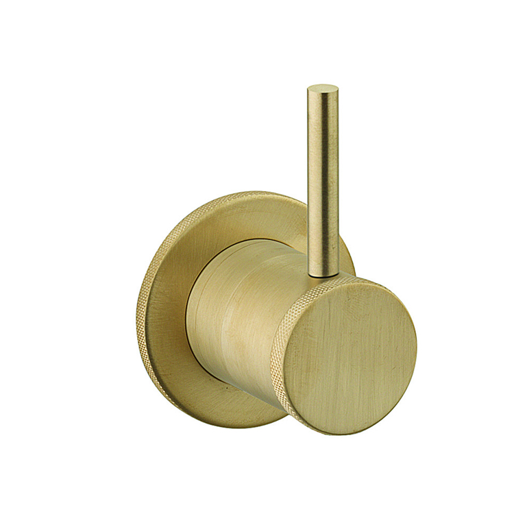 Photo of Crosswater MPRO Industrial Unlacquered Brushed Brass 2 Way Diverter