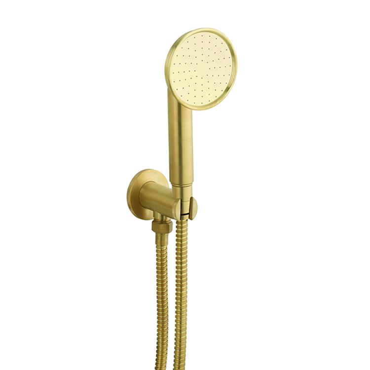 Photo of Crosswater MPRO Industrial Unlacquered Brushed Brass Single Function Handset