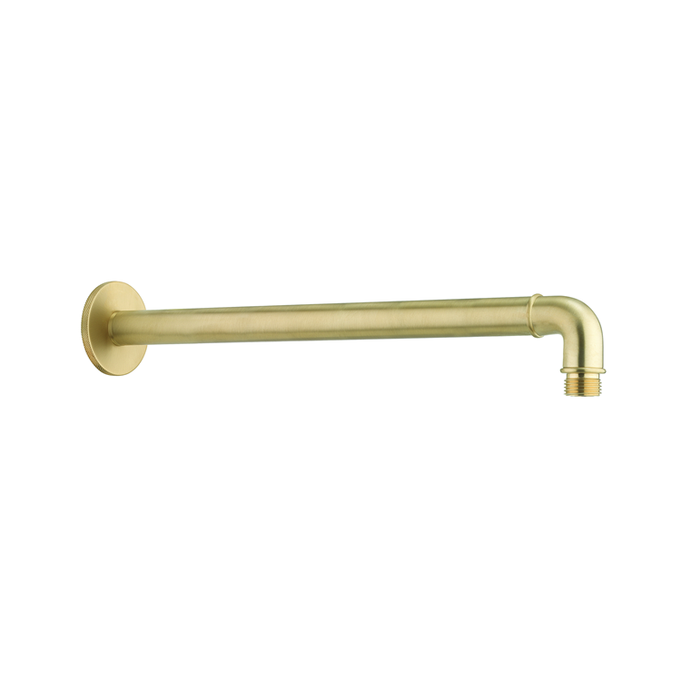 Photo of Crosswater MPRO Industrial Unlacquered Brushed Brass Shower Arm
