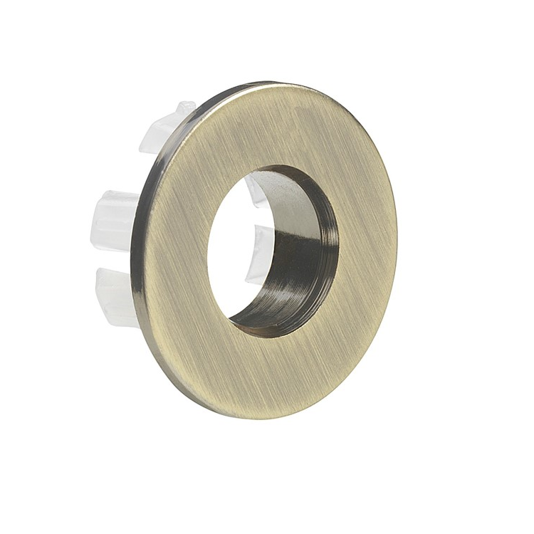 Photo of Crosswater MPRO Brushed Brass Overflow Cover Cutout