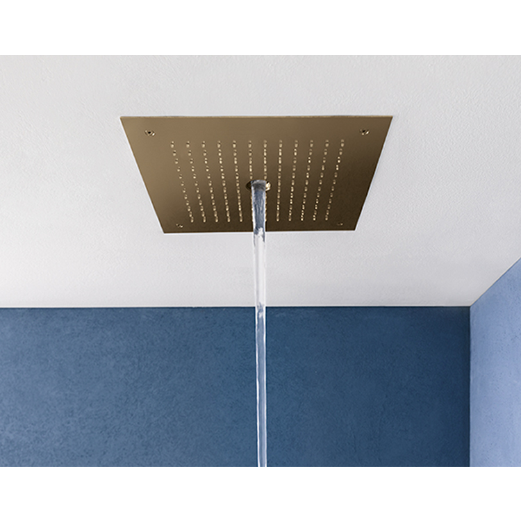 Photo of Crosswater MPRO Stream Brushed BrassRecessed Shower Head Cutout