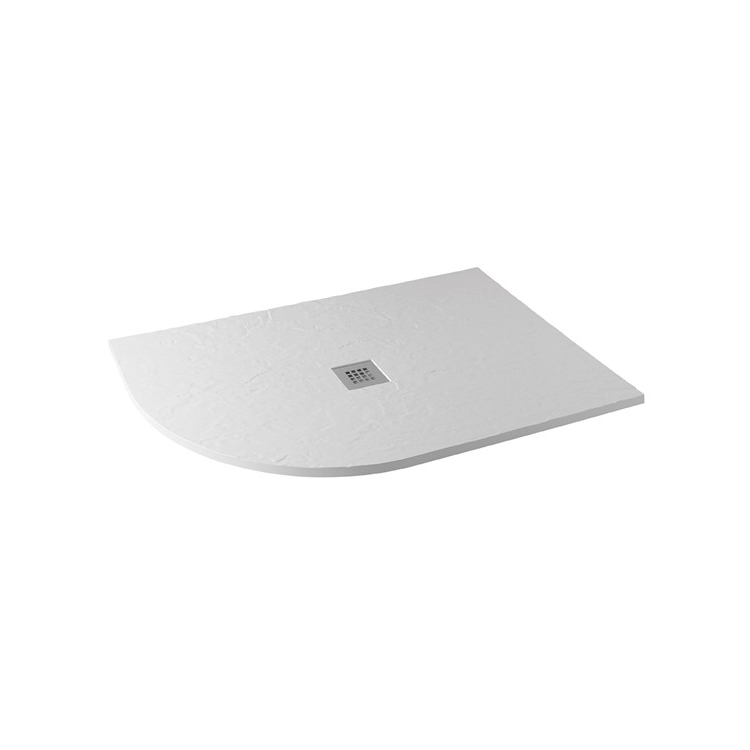 Photo of MX Minerals Ice White 1200mm x 800mm Offset Quadrant Shower Tray - Left Hand