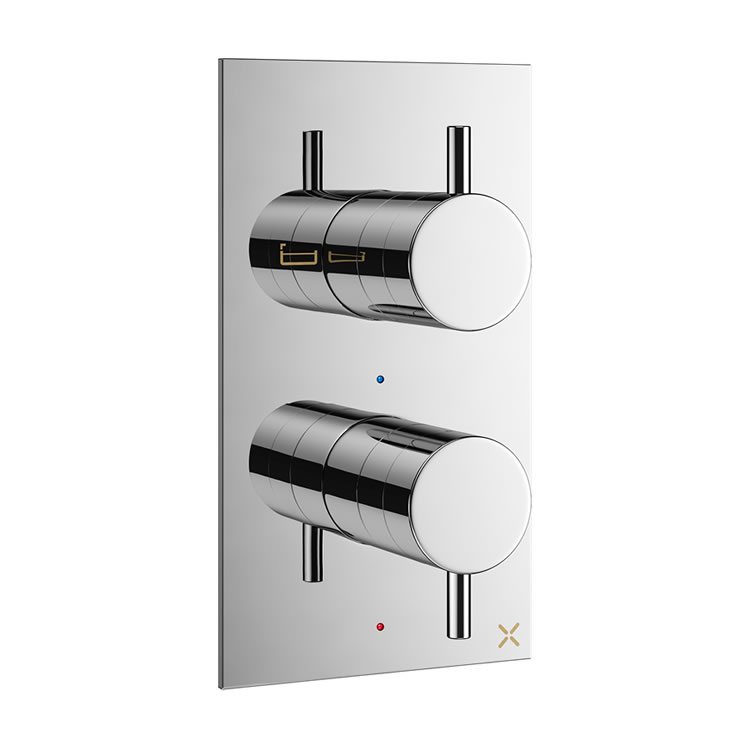 Crosswater Mike Pro Chrome Twin Outlet Thermostatic Bath Shower Valve Image 1