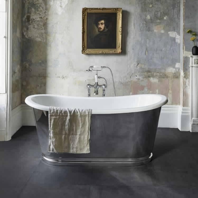 Clearwater Balthazar Clear Stone Freestanding Bath Lifestyle Image