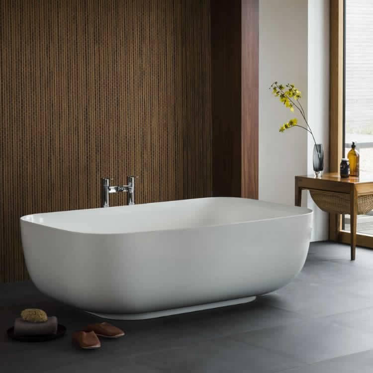 Clearwater Duo Clear Stone 1500mm Freestanding Bath Lifestyle Image