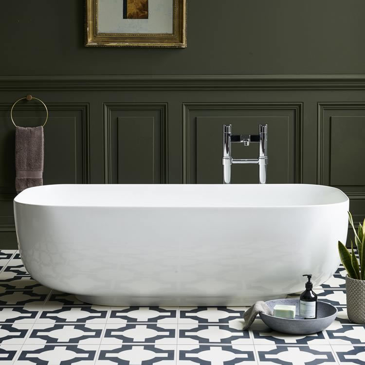 Clearwater Uno Clear Stone Freestanding Bath