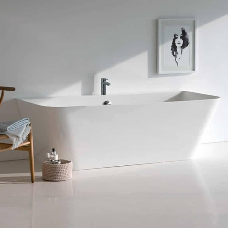 Clearwater Patinato Petite Clear Stone Freestanding Bath Lifestyle Image
