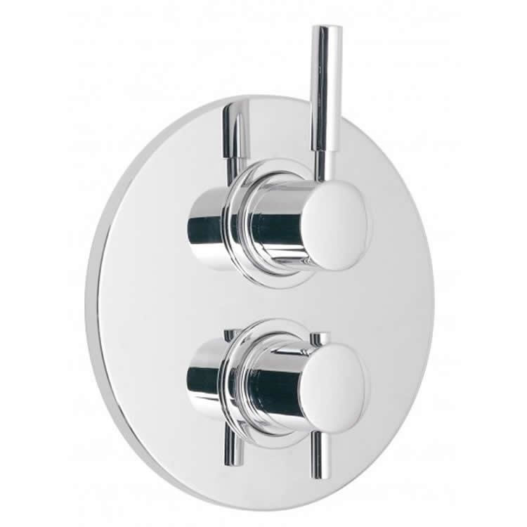 VadoOrigins Single Outlet Twin Handle Thermostatic Shower Valve Image 1