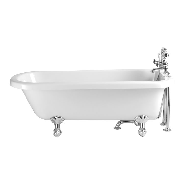 Heritage Perth 1650mm Freestanding Acrylic Single Ended Roll Top Bath