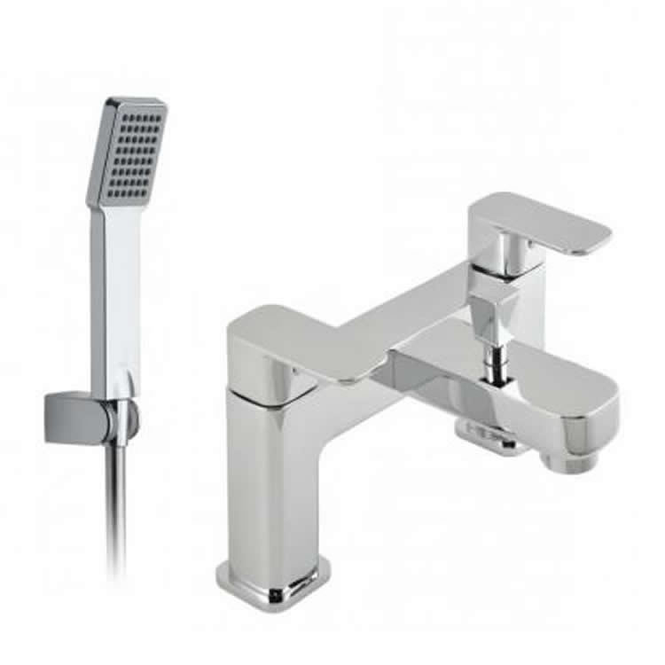Vado Phase Deck Mounted Bath Shower Mixer With Shower Kit Image 1