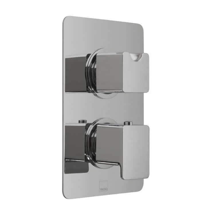 Vado Phase Twin Outlet Thermostatic Shower Valve Image 1