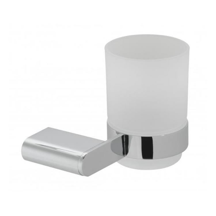 Vado Photon Frosted Glass Tumbler & Holder Image 1