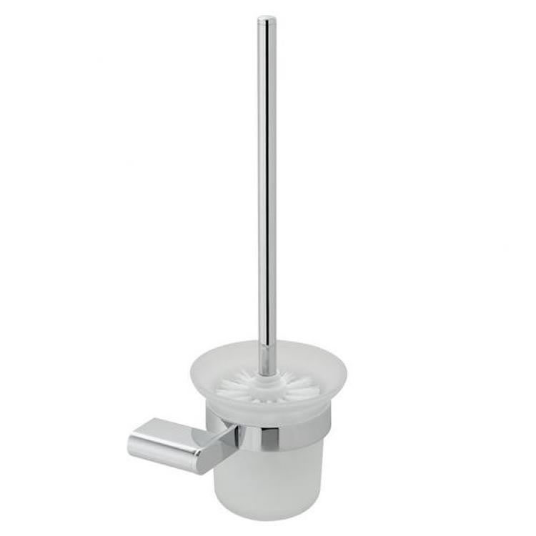 Vado Photon Toilet Brush & Frosted Glass Holder Image 1