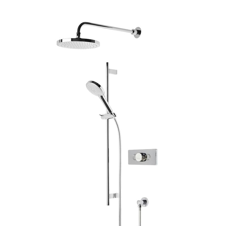 Photo of Roper Rhodes Event-Click Chrome & White Round Shower System Cutout