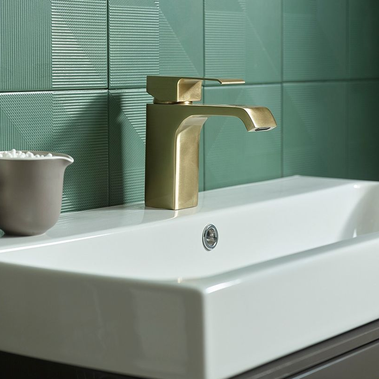 Lifestyle Photo of Roper Rhodes Hydra Brushed Brass Basin Mixer with Waste