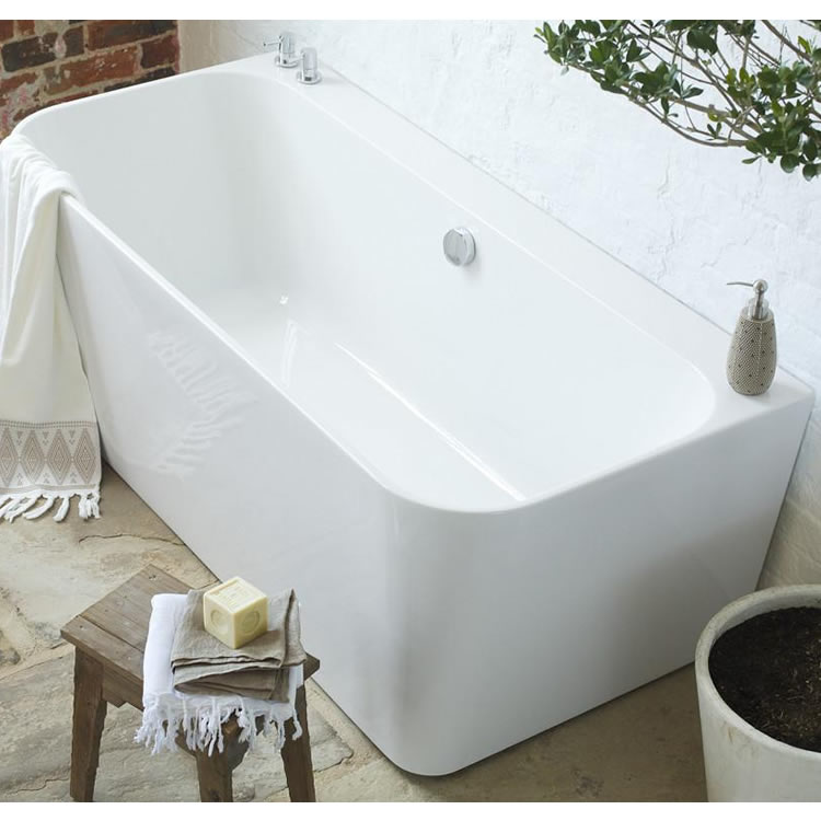 Waters I-Line River 1600mm Back-To-Wall Bath Image