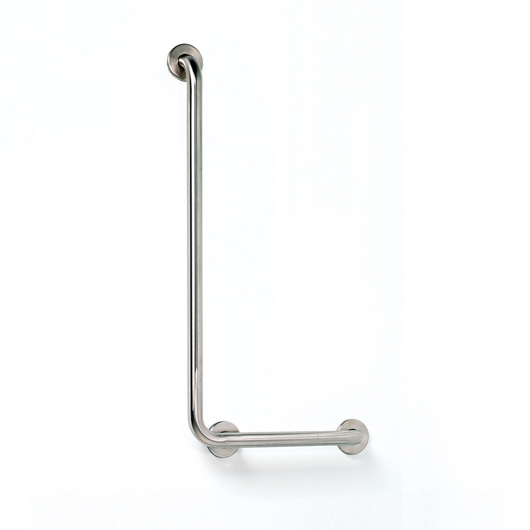 Photo of Bathroom Origins Brushed Stainless Steel Right Angled Safety Bar Right Hand