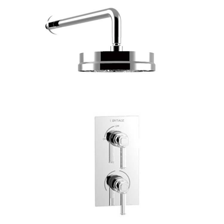 Heritage Somersby Recessed Shower with Deluxe Fixed Head Kit Chrome Finish Image
