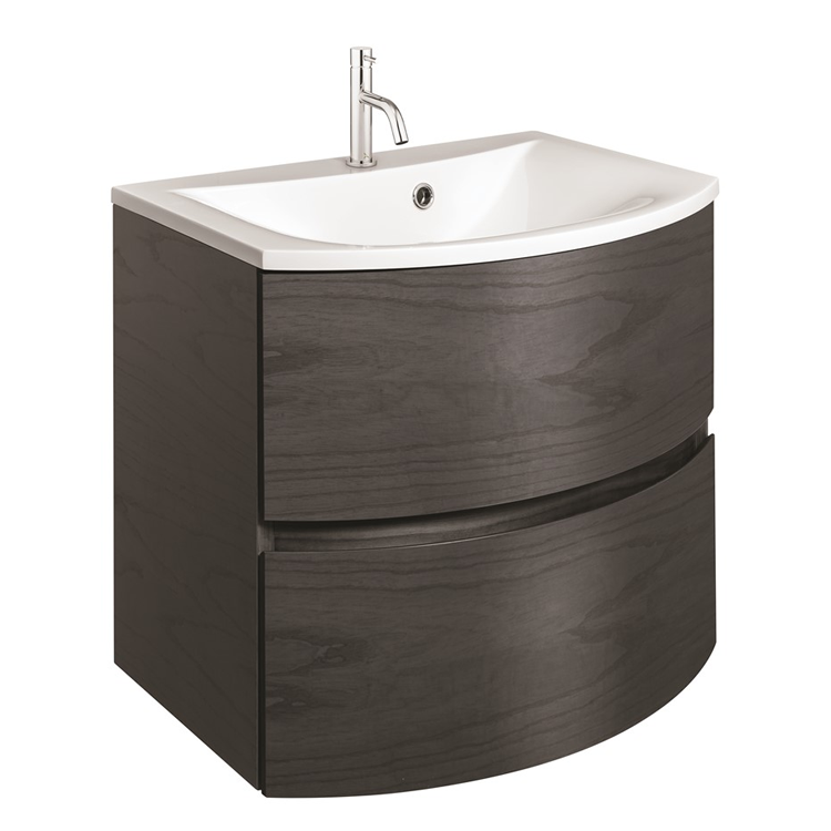 Photo of Crosswater Svelte Grey Ash 600mm Unit and Cast Mineral Marble Basin Cutout
