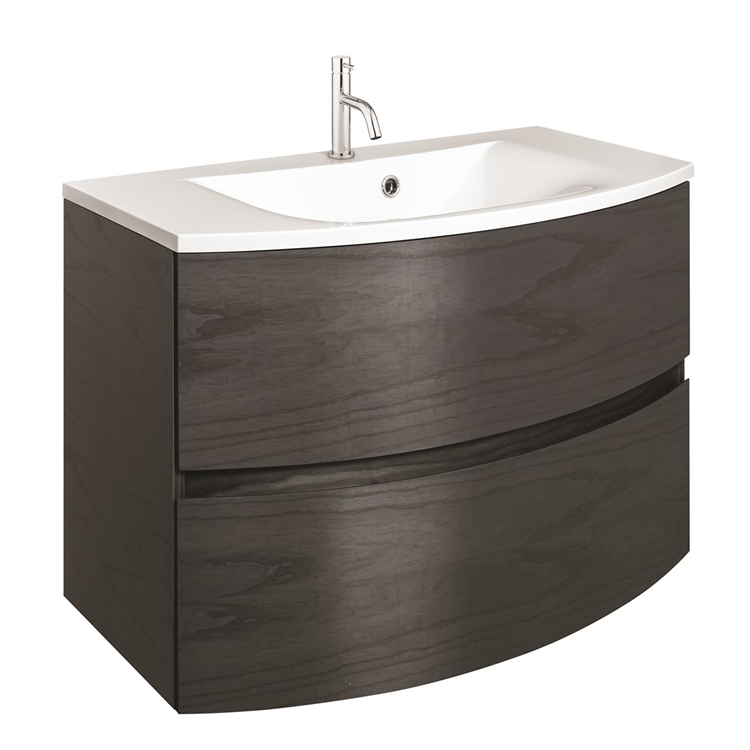 Photo of Crosswater Svelte Grey Ash 800mm Unit and Cast Mineral Marble Basin Cutout