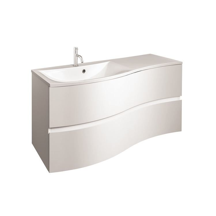 Photo of Crosswater Svelte White Gloss 1000mm Unit and Cast Mineral Marble Basin Cutout
