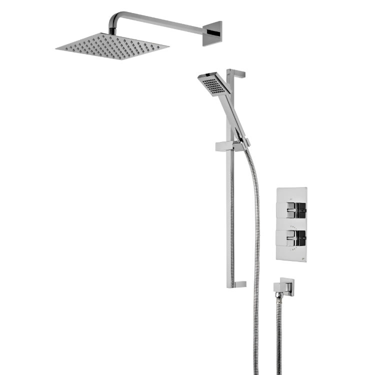 Roper Rhodes Event Square Dual Function Shower System with Head & Handset