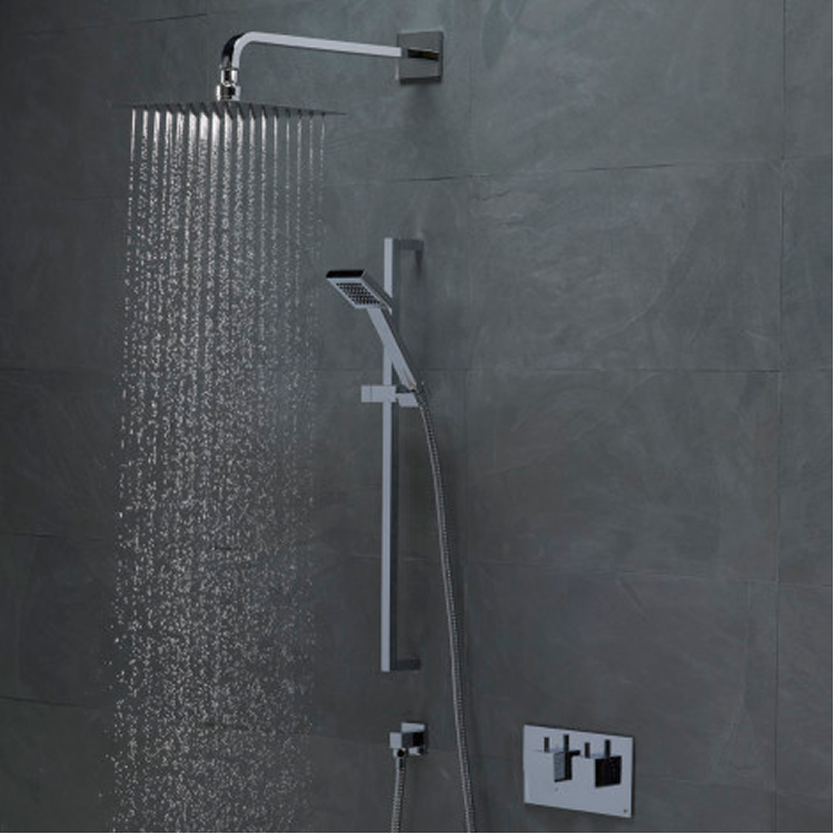 Roper Rhodes Event Square Dual Function Shower System With Stainless Steel Fixed Shower Head - STILL