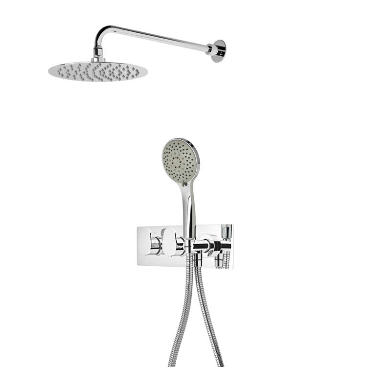 Roper Rhodes Stream Dual Function Shower with Fixed Head & Handset
