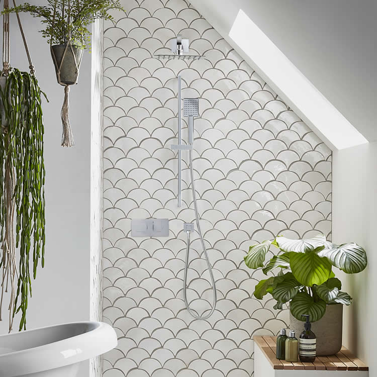 Roper Rhodes Sync Dual Function Shower with Fixed Head & Riser Rail - Image 1