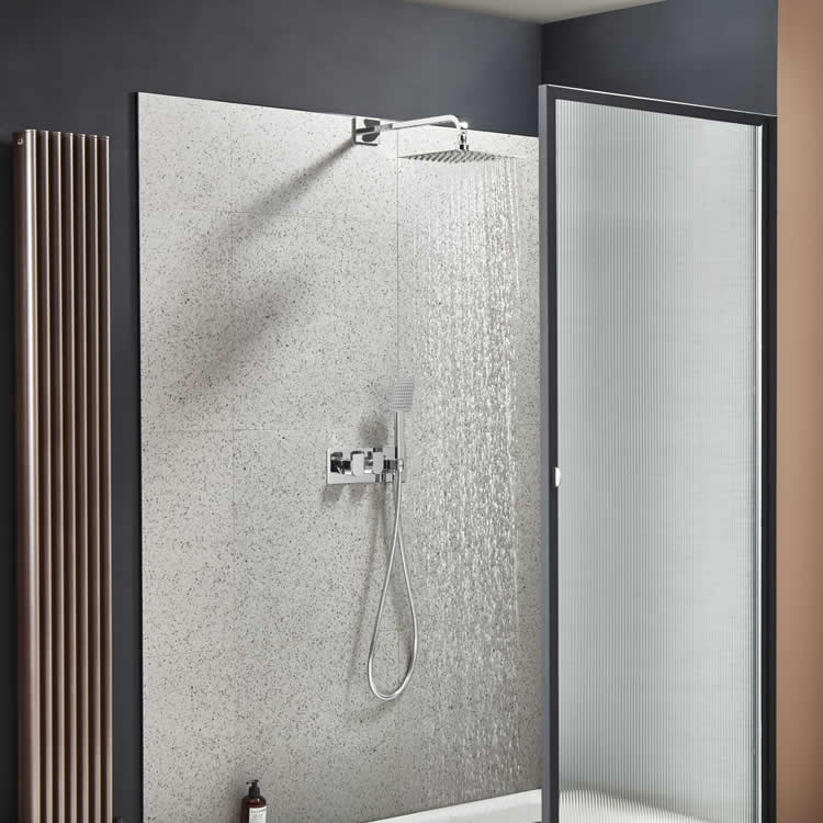 Roper Rhodes Code Dual Function Shower with Fixed Head & Handset - Image 1