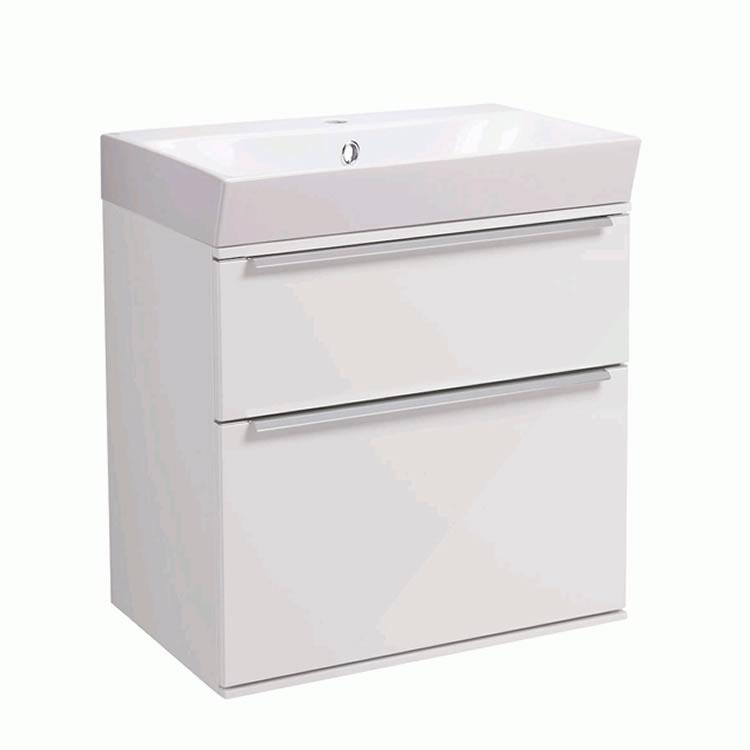 Roper Rhodes Scheme 500mm Gloss White Wall Mounted Vanity Unit and Basin - Image 1