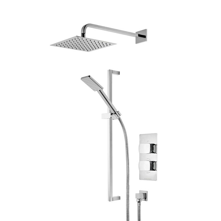 Photo of Roper Rhodes Sign Dual Function Shower with Fixed Head & Riser Rail