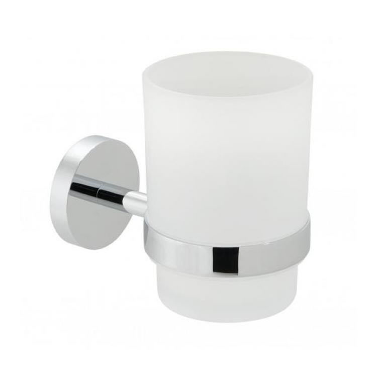 Vado Spa Frosted Glass Tumbler & Holder Image 1