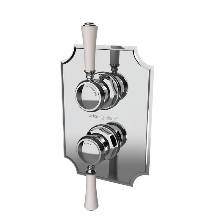 Photo of Victoria + Albert Staffordshire 31 Concealed Twin Outlet Shower Valve