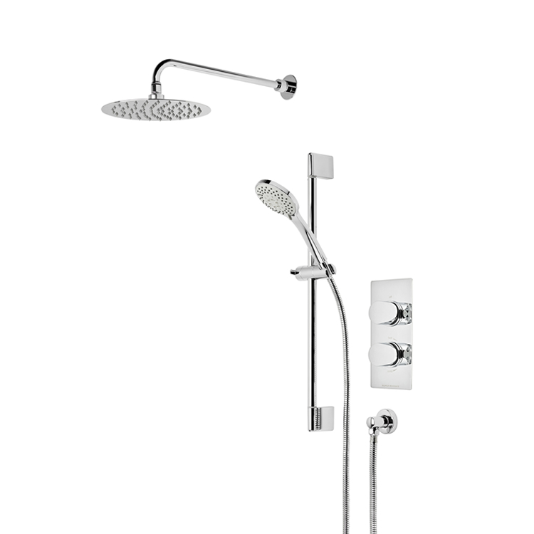 Photo of Roper Rhodes Stream Dual Function Shower with Fixed Head & Riser Rail